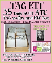 Tag- KIT  35 Tags  Also suit ATC size 64 mm x 136 mm INCLUDES md